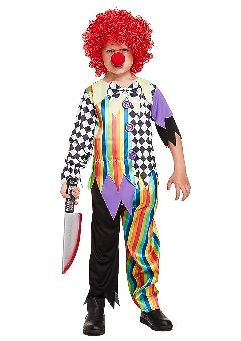 HENBRANDT Disfraz de Payaso Malvado de Halloween niños: Amazon.es ...