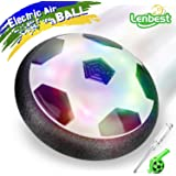 Air Power Football, Lenbest Ballon Foot Aéroglisseur Hover Ball LED avec Pare-chocs en Mousse, Jouets pour Enfants Animaux Domestiques Indoor & Outdoor - Inclut Sifflet et Petit Tournevis