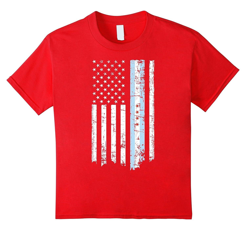 Mens Chicago American T Shirt Black-Tovacu