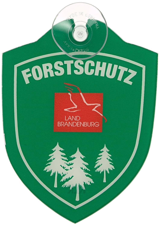 Waidmannsbruecke FORSTSCHUTZ Saugnapf Autoschild mit und ohne L/änderwappen