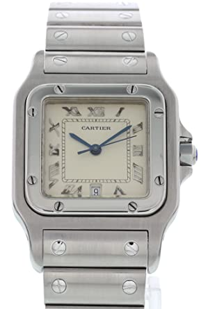 2da533b2ad62 Cartier Men s Santos Galbee Quartz Watch 1564 (Certified Pre-Owned)  Cartier   Amazon.co.uk  Watches