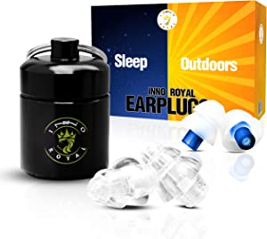 Noise Reduction Ear Plugs- Ear Plugs for Sleep and Outdoor- 2 Size Pairs-Portable & Reusable Ear Protection, Noise Cancelling Ear Plugs for Snoring, Motorcycles, Musicians, Nightclub