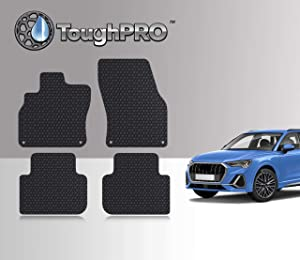 TOUGHPRO Floor Mat Accessories Set Compatible with Audi Q3 - All Weather - Heavy Duty - (Made in USA) - Black Rubber - 2019, 2020 (Front Row + 2nd Row)