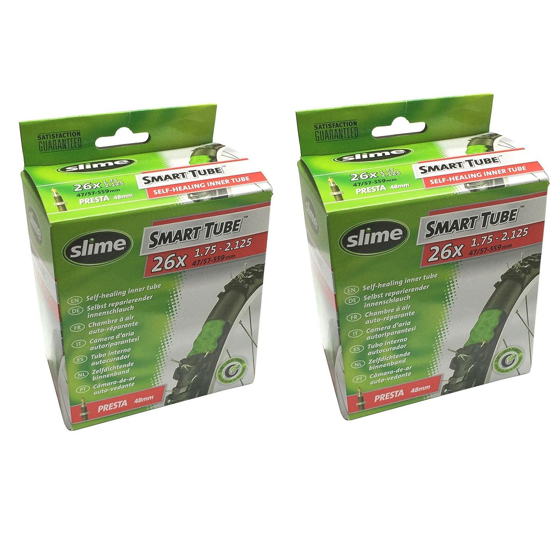 Slime Smart Tube Self Healing 26 x 1.75-2.125 Presta Inner Tubes by Slime