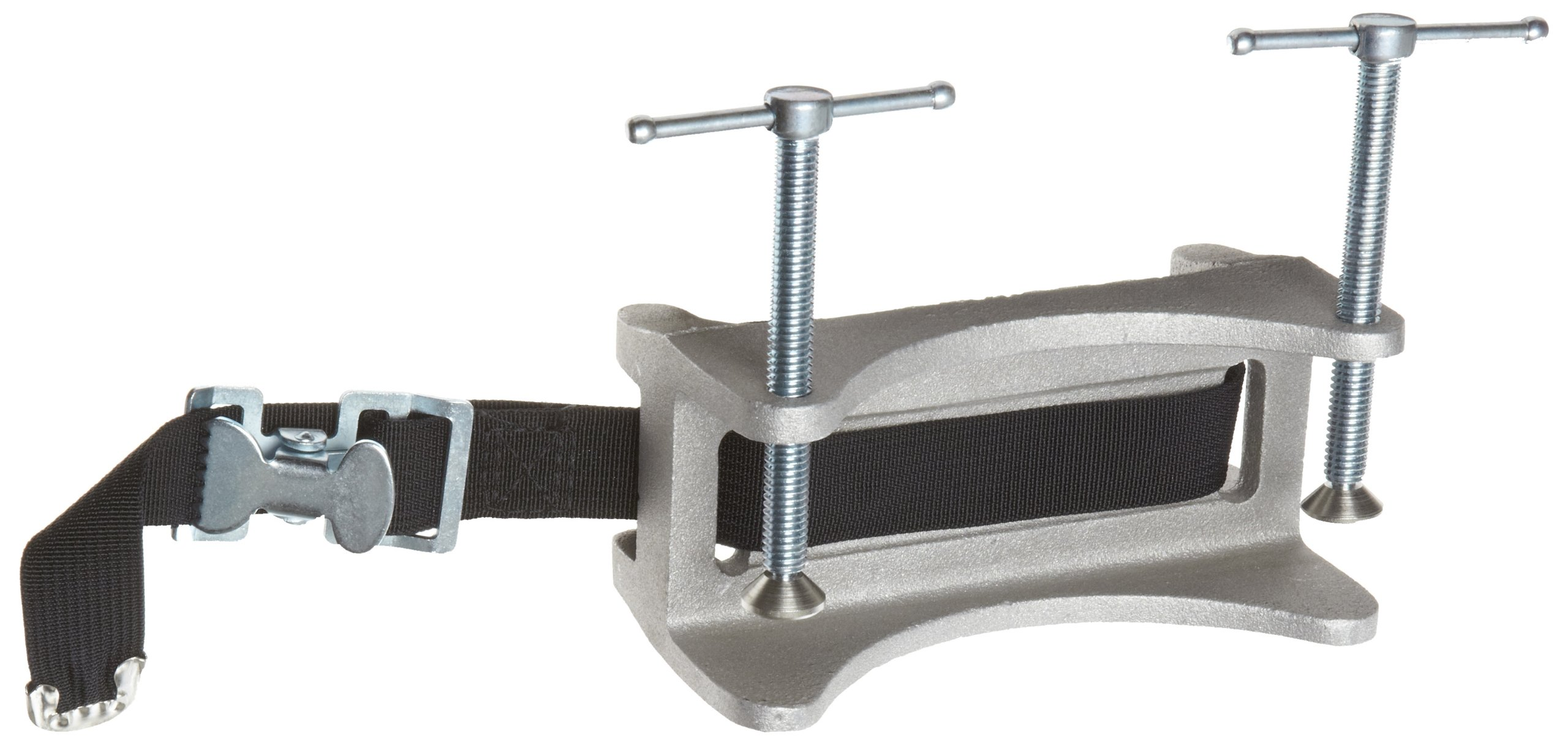 Talboys 712 Aluminum Heavy-Duty Cylinder Bench Clamp with Strap, 3.25'' Length x 6'' Width x 4.5'' Height by Talboys