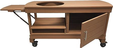 Amazon Com J S Designs Shop Llc Big Green Egg Cabinet Table For