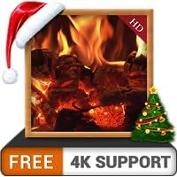 chimenea de leña rizada GRATIS: disfrute del ambiente tranquilo en su televisor 4K y dispositivos de fuego como fondo de…