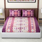 Core Designed by Spaces Season's Best Premium 144 TC Cotton Double Bedsheet with 2 Pillow Covers, Pink