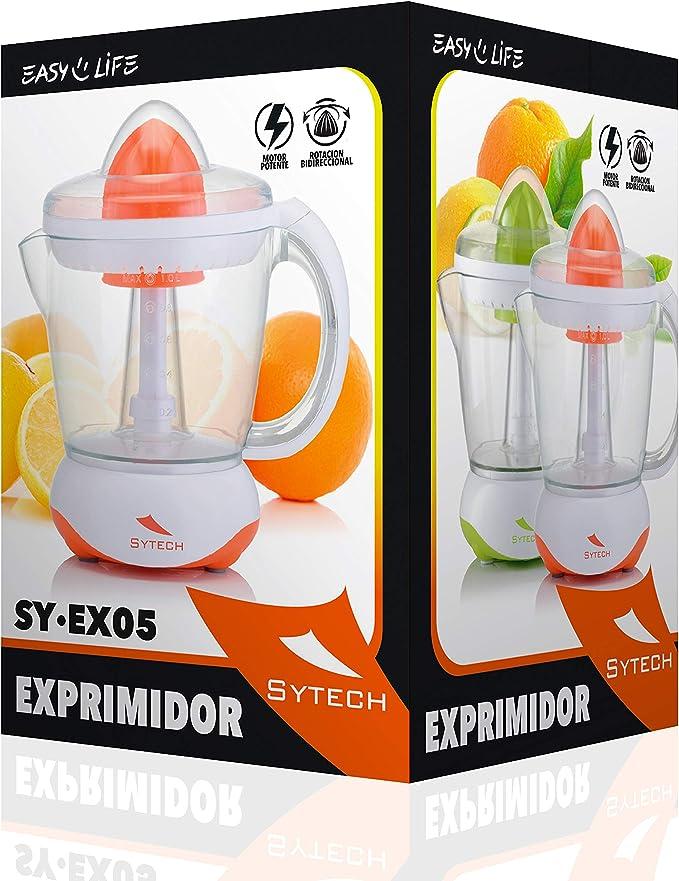 SYTECH SY-EX05 Exprimidor de 1L,Rotación 2 sentidos, 40W. de Color ...