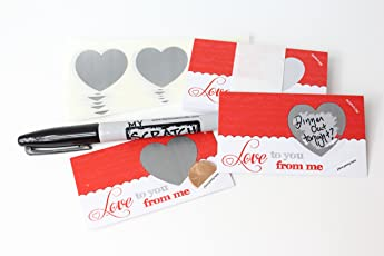 LoveNotes, Love Coupons, DIY Love Notes Scratch-Off Mini Cards Kit, Create