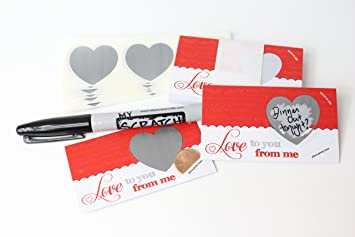 LoveNotes, Love Coupons, DIY Love Notes Scratch Off Mini Cards Kit, Create  Make Your Own Voucher