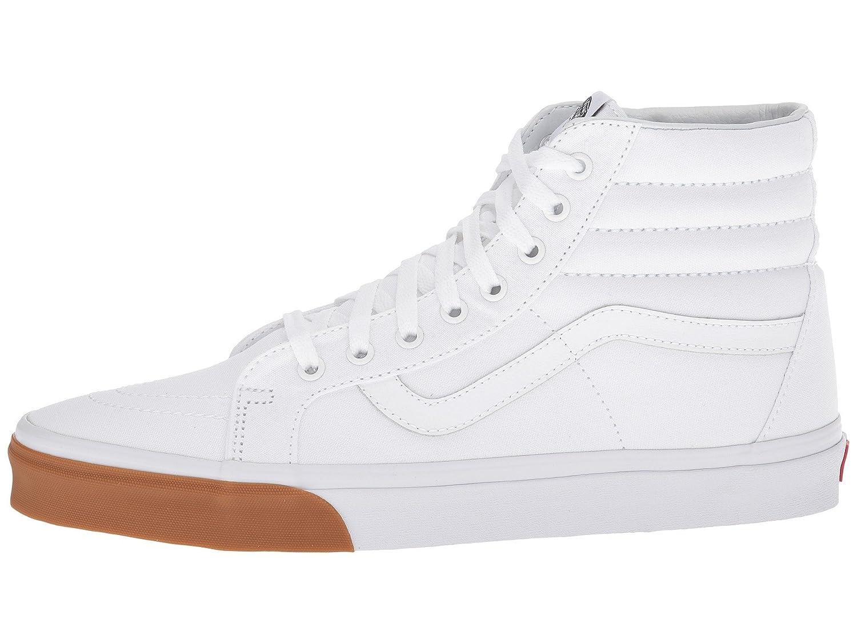 Vans Men's Sk8-Hi(Tm) Core Classics B076CVL2W3 6 M US Women / 4.5 M US Men|(Gum Bumper) True White / True White