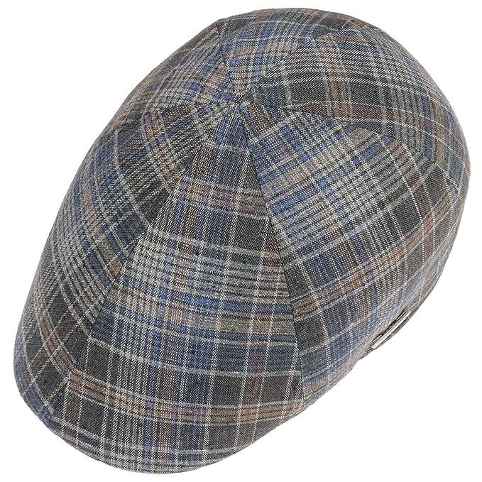 cbec0d989c7 Stetson Texas Grenville Check Flat Cap Ivy hat Cotton  Amazon.co.uk   Clothing