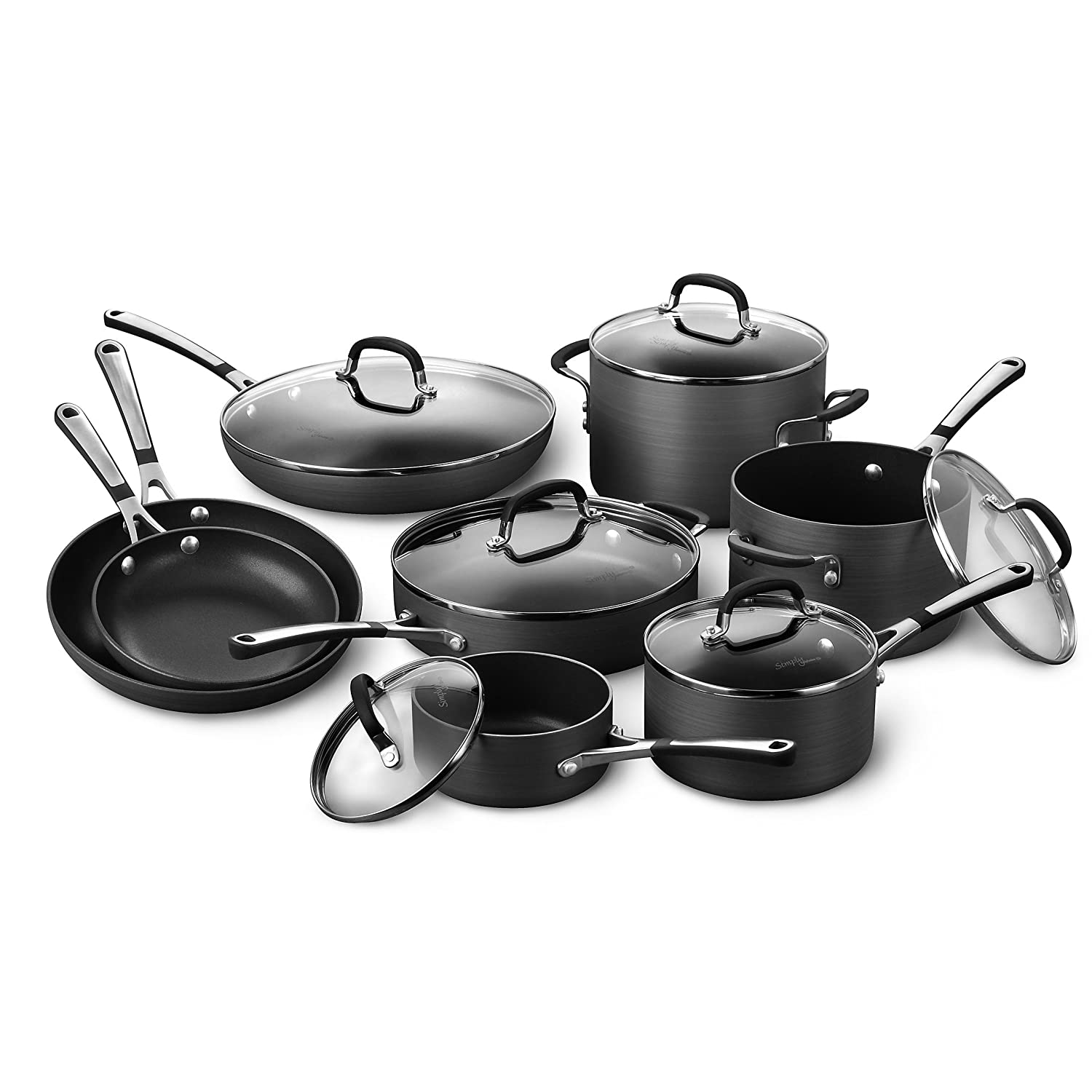 Amazon Com Simply Calphalon Nonstick 14 Piece Cookware Set