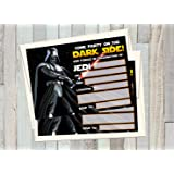 Amazon lego star wars invitations party accessory toys games 12 star wars darth vader birthday invitations 12 5x7in cards 12 matching white filmwisefo Images