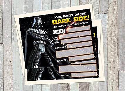 Amazon Com 12 Star Wars Darth Vader Birthday Invitations 12