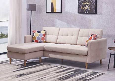 Amazon.com: 83 Inches Mid-Century Modern Sectional Sofa ...