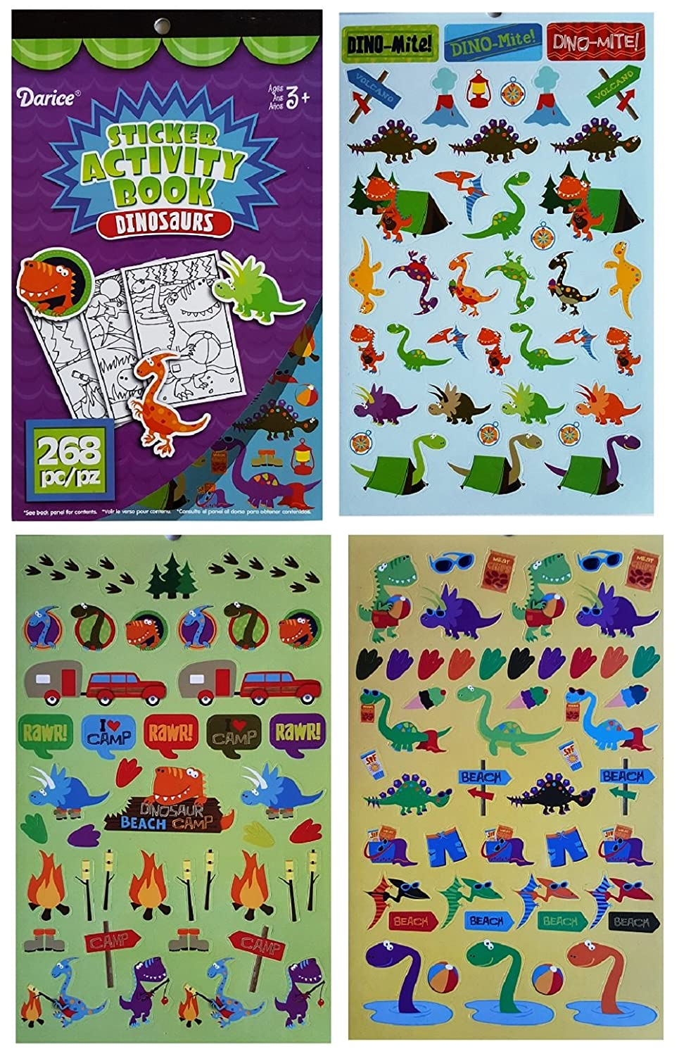 Amazon.com: Dinosaur Gift for Kids -(Dino Fun Coloring & Activity ...