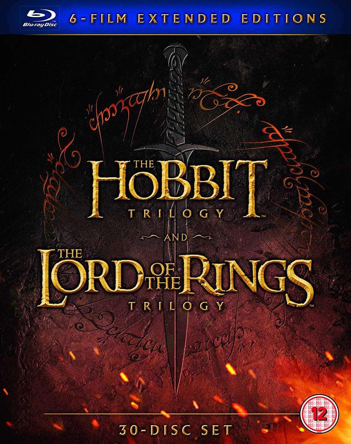 Hobbit Trilogy/The Lord Of The Rings Trilogy: Extended... (30 Blu-Ray) [Edizione: Regno Unito] [Reino Unido] [Blu-ray]