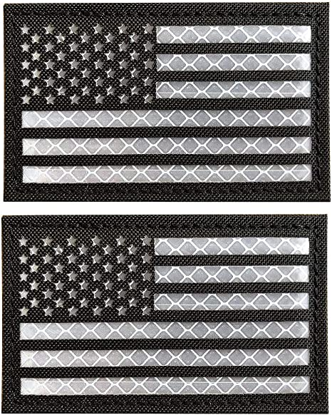 White /& Black Tactical American Flag Embroidered Patch USA United States of America Military Iron On Sew On Emblem