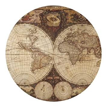 Amazon vintage world map round decal xlarge home kitchen vintage world map round decal xlarge gumiabroncs Images