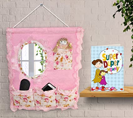 TIED RIBBONS Mothers Day For Mom From Son Wall Hanging Storage Bag Organizer With Greeting Card Amazonin Home Kitchen