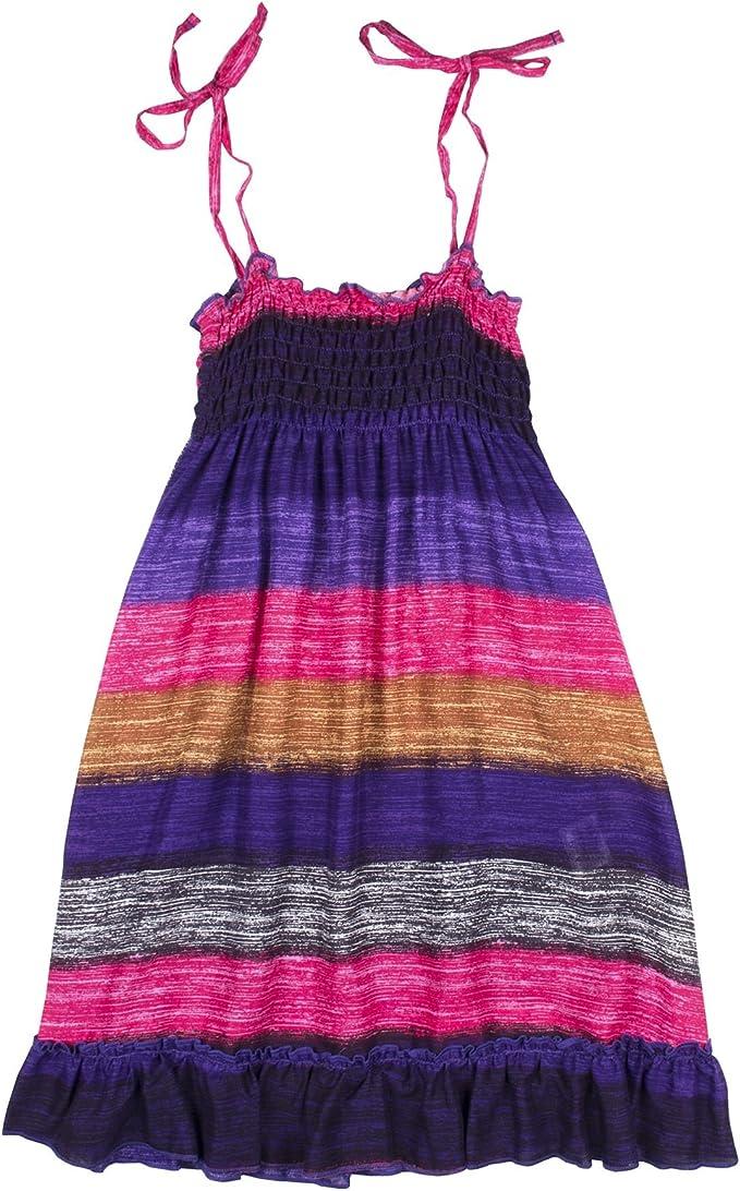 Cotrio Girls Boho Floral Summer Dress Outfits Toddler Kids Bohemia Rainbow Spaghetti Strap Hawaiian Beach Sundress Clothes
