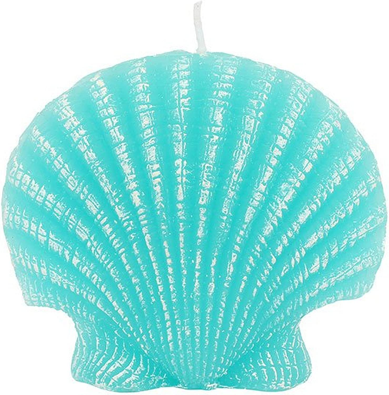 Turquoise Clam Shell Candle