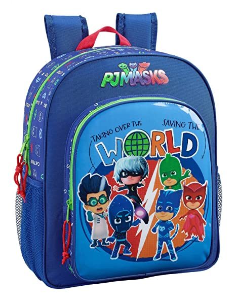 "Safta Mochila Escolar Junior P J Masks ""World"" Oficial 320x120x380mm"
