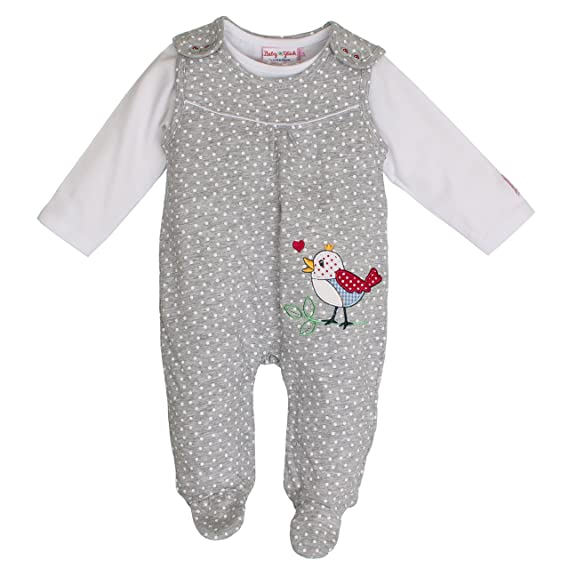 Salt and Pepper BG Playsuit Allover, Pelele para Bebés, Gris (Grey Melange 212