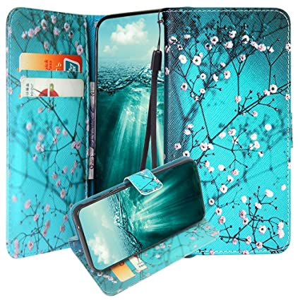 ZTE ZFive G/ZFive C/Avid 4/Fanfare 3/Blade Vantage/Tempo X/Tempo Go Case,  Linkertech Kickstand PU Leather Flip Wallet Case with Card Slots for ZTE