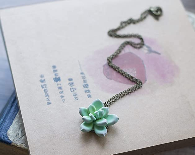 53b28c85f Image Unavailable. Image not available for. Color: Succulent jewelry - polymer  clay ...