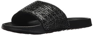 Skechers 2ND Take Summer Chic 31546 BBK Damen Pantolette Fußbett aus Synthetik, Groesse 37, Schwarz