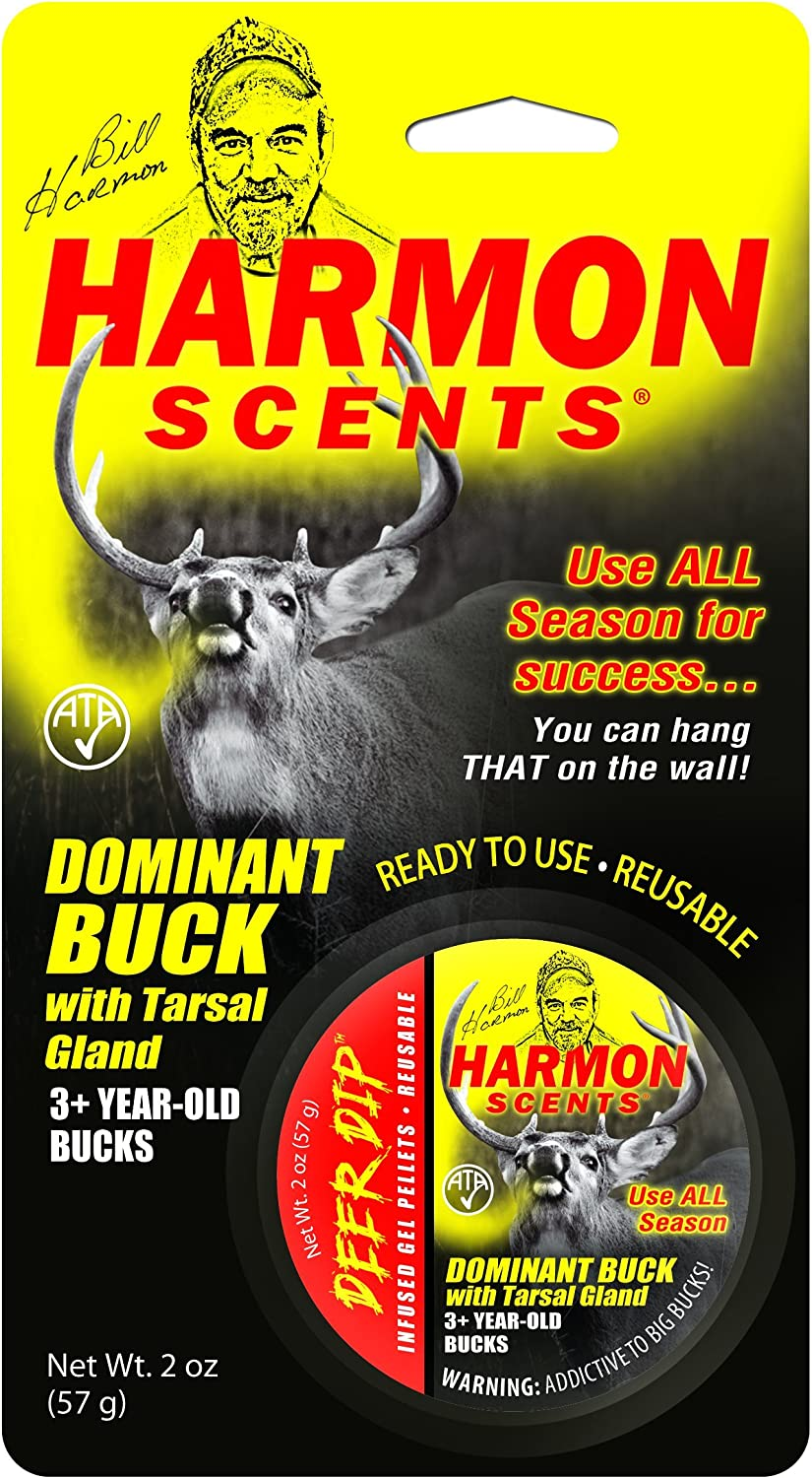 Harmon Scents - Dominant Buck Deer Dip- CCHDBDD - Whitetail Attractant - Deer Lure Deer Hunting - Trophy Buck - Whitetail Urine