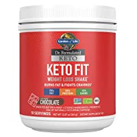 Garden of Life Dr. Formulated Keto Fit Weight Loss Shake - Chocolate Powder, 10...