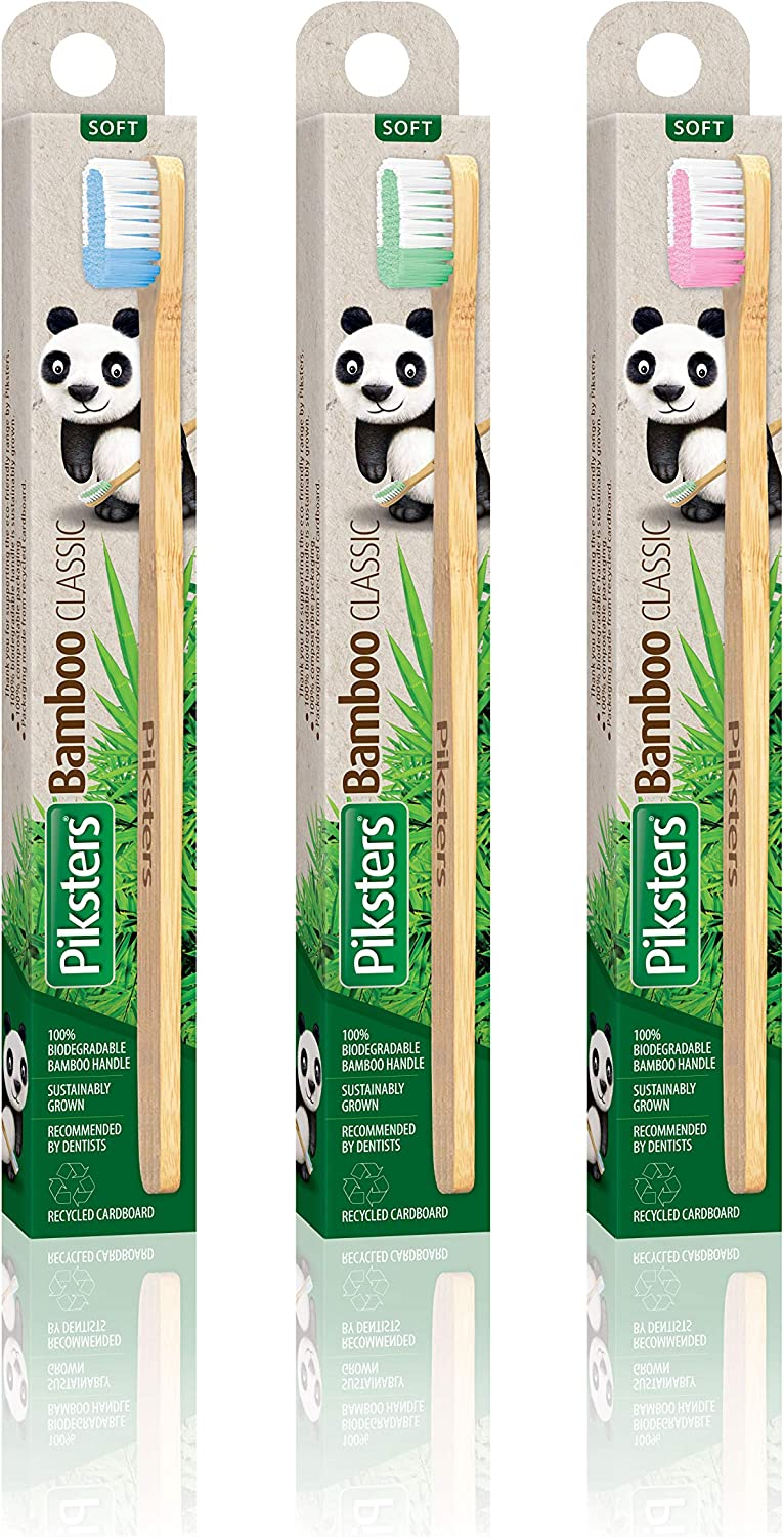 Bamboo pikster │ Biodégradable /& Durable │ Brosses Interdentaires │ taille 4 │ 8PK
