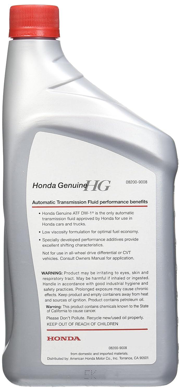 Honda DW-1 Automatic Transmission Fluid, 1 quart, Pack of 12