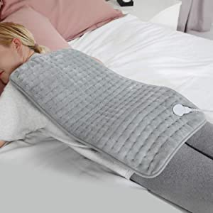 """Weighted Heating Pad for Back Cramps Pain Relief, Soft Electric Heating Pads with Auto Shut Off, 6 Heat Settings, Moist Heating Pad for Shoulder Neck Arms Legs Knees,Washable 14"""" X 26"""""""