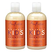 SheaMoisture Mango & Carrot KIDS, Extra-Nourishing Shampoo, Orange Blossom Extract, Dry, Delicate Hair, 8 fl oz, Pack of 2