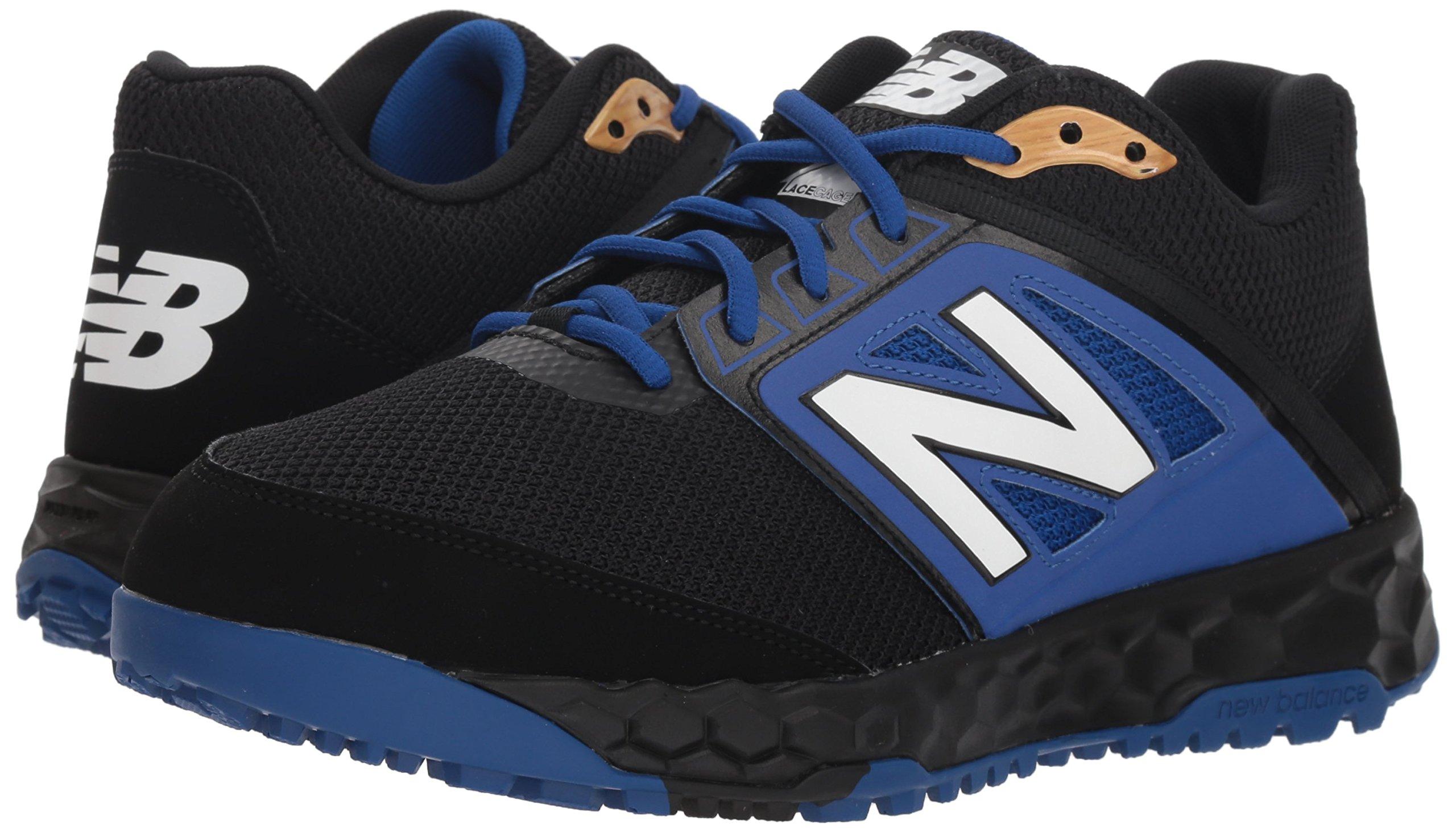 New Balance Men's 3000v4 Turf Baseball Shoe, Black/Blue, 5 D US by New Balance (Image #5)