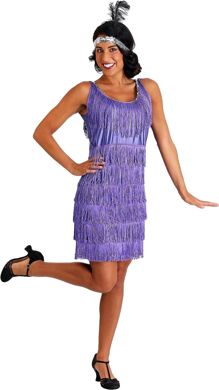 Purple Plus Size Flapper Dress Adult Flapper Costume