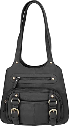 Weapon Handbag Concealed Carry Rhinestone Hobo CCW Gun Purse by Roma Leather