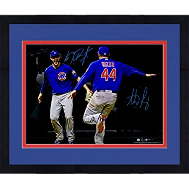 Framed Kris Bryant and Anthony Rizzo Chicago Cubs Autographed 16  x 20  World Series Celebration Spotlight Photograph - Fanatics Authentic Certified