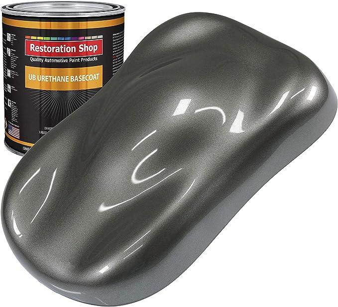 Gris oscuro metálico uretano capa base coche Auto pintura tinte para hormigón a sólo – restauración tienda