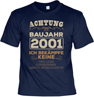 18 Geburtstag 2001 T Shirt 18 Geburtstag Geburtstagsshirt