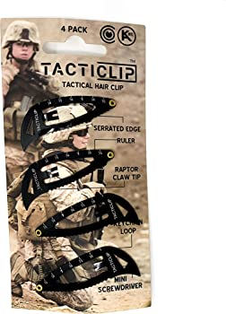 4-Pack Tacticlip Multitool Snap Barrettes Hair Clips