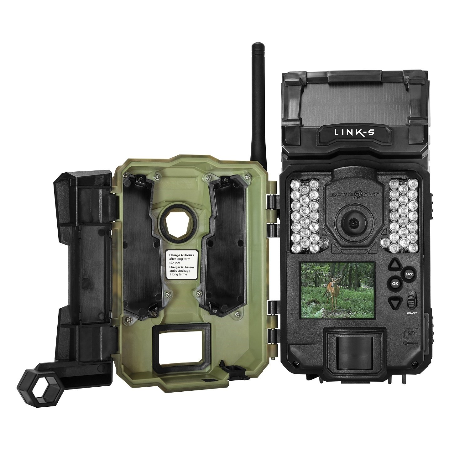 Spypoint LINK-S Verizon Solar Cellular Trail Camera, Camo by Spypoint
