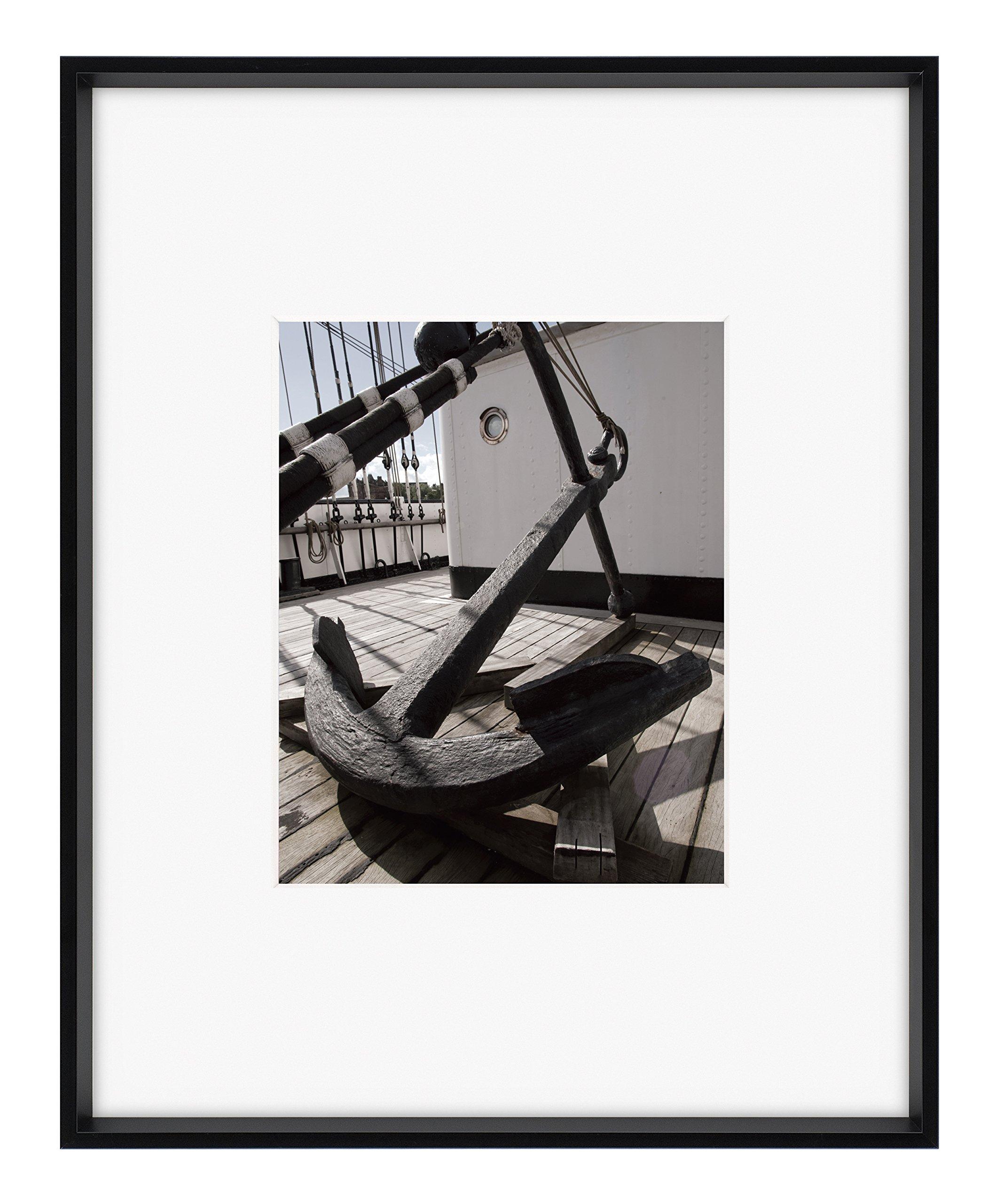Nielsen Bainbridge ARTCARE by Nielsen Collection 8''X10'' 16''X20'' Matte Black Gallery Frame, Centered MAT 8 inches x 10 inches 3 Piece