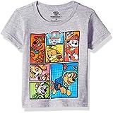 Nickelodeon Toddler Boys' Paw Patrol Pups Short Sleeve T-Shirt-Chase, Marshall, Skye, Heather Grey