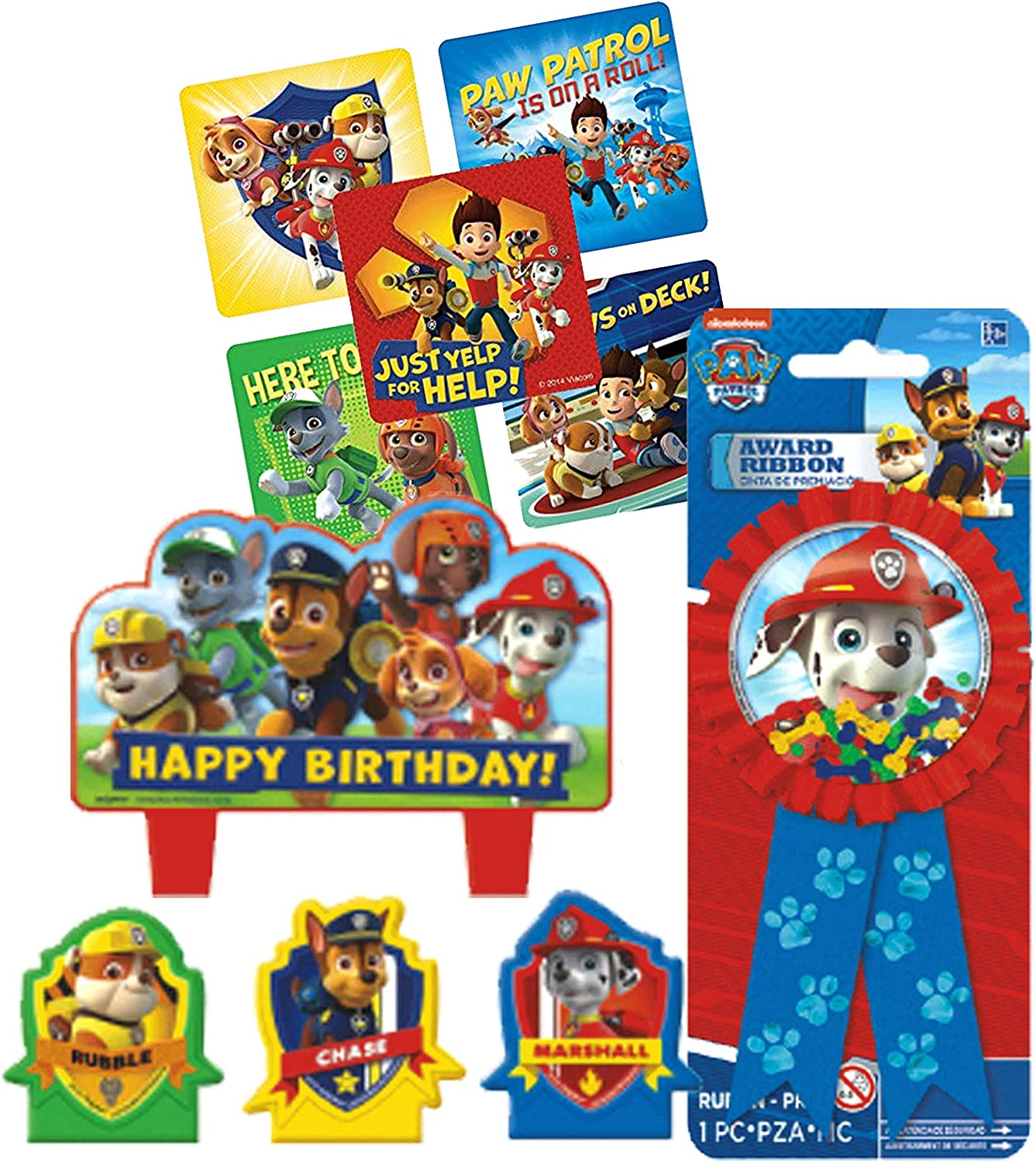 PAW PATROL GUEST OF HONOR RIBBON ~ Birthday Party Supplies Favors Award Confetti